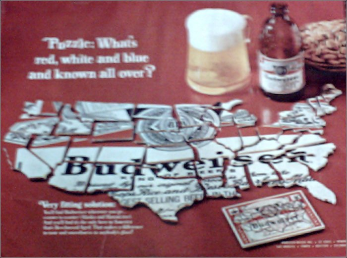 1968 Budweiser Beer ad #1