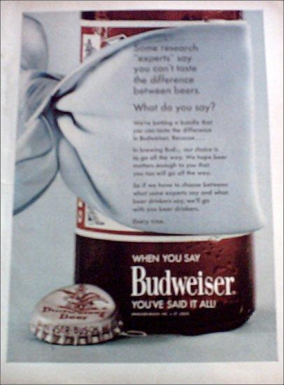 1968 Budweiser Beer ad #3