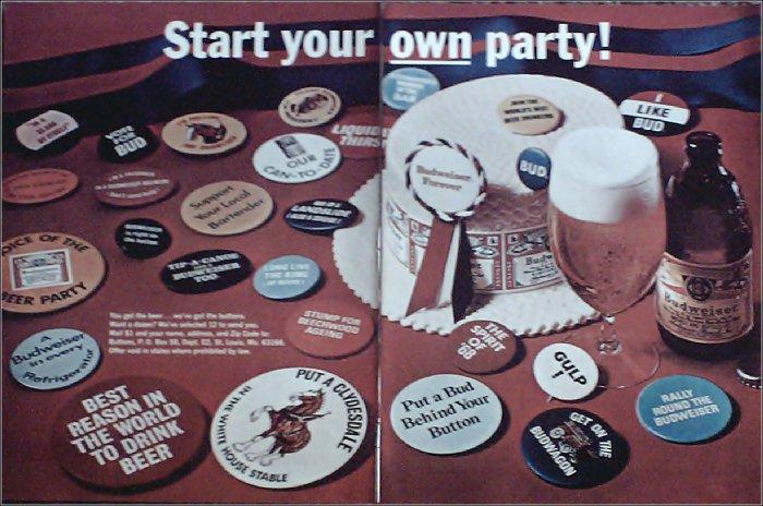 1968 Budweiser Beer ad #4