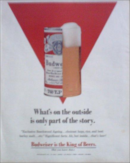 1969 Budweiser Tab Top Beer ad #1