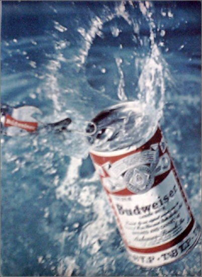 1969 Budweiser Tab Top Beer ad #2