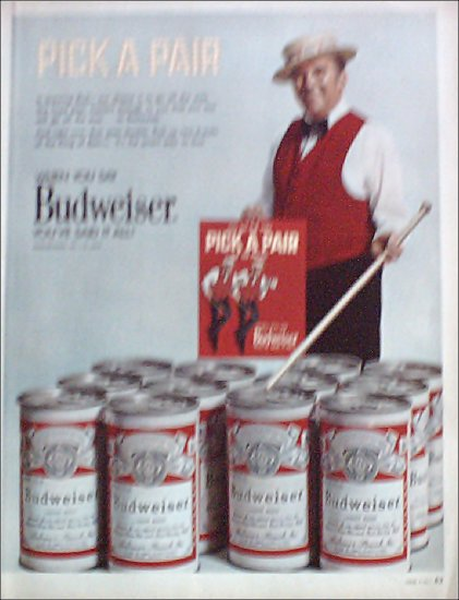 1971 Budweiser Beer ad with Ed McMahon