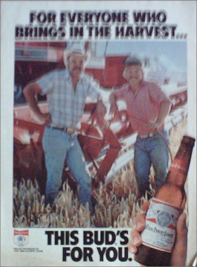 1984 Budweiser Beer ad