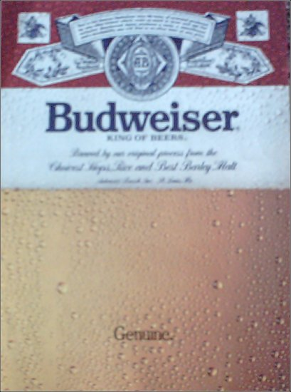 1987 Budweiser Beer ad