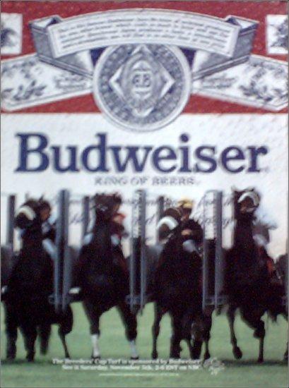 1988 Budweiser Beer Breeders Cup ad