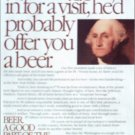 1989 Budweiser Beer ad featuring George Washington