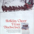 1989 Budweiser Beer Happy Holidays ad featuring the Clydesdales