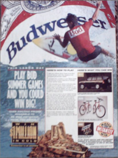 1992 Budweiser Beer Contest ad #2