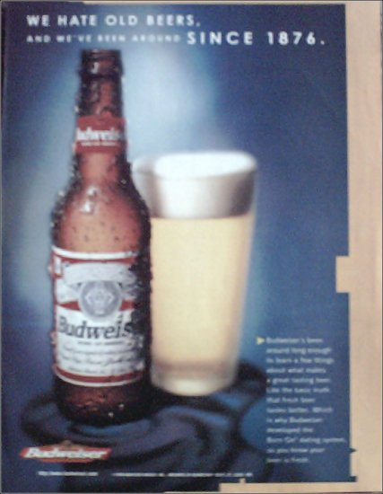 1998 Budweiser Beer ad