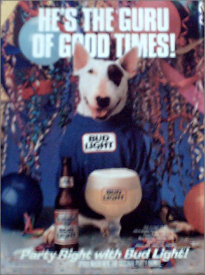 1987 Bud Light Spuds MacKenzie Beer ad