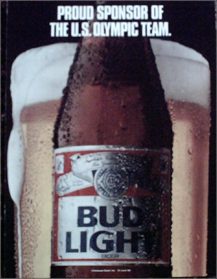 1987 Bud Light Beer ad