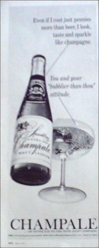 1967 Champale Malt Liquor ad