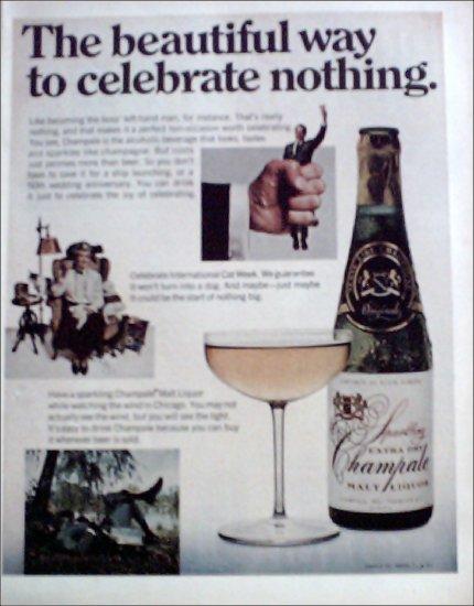 1970 Champale Malt Liquor ad #2