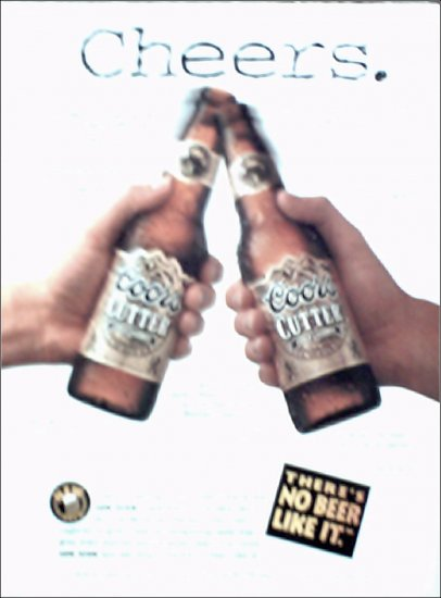 1994 Coors Cutter Beer ad