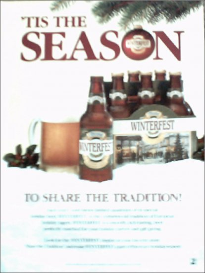 1989 Coors Winterfest Beer ad