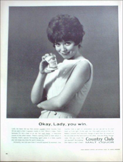 1964 Country Club Malt Liquor ad