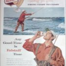 1960 Falstaff Beer Fisherman ad