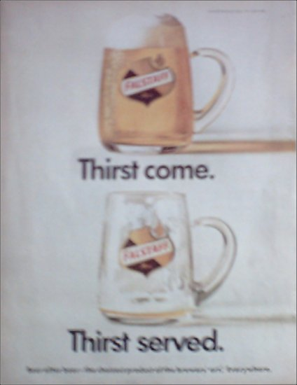 1967 Falstaff Beer Thirst Come ad