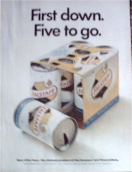 1967 Falstaff Beer One Down ad