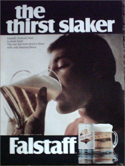 1968 Falstaff Beer Thirst Slaker ad #1