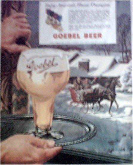 1953 Goebel Beer ad