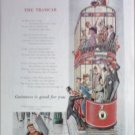 1956 Guiness Stout Tramcar Beer ad from the UK