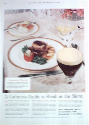 1957 Guiness Stout Beer ad #1 from the UK