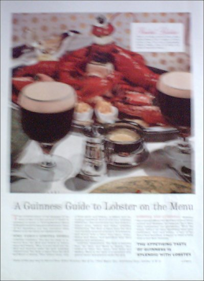 1957 Guiness Stout Beer ad #2 from the UK