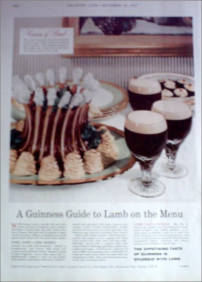 1957 Guiness Stout Beer ad #3 from the UK