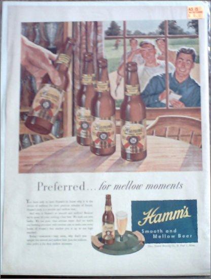 1947 Hamms Beer ad