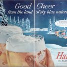 1956 Hamms Holiday Beer ad