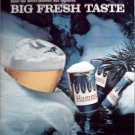 1964 Hamms Beer Big Fresh Taste ad