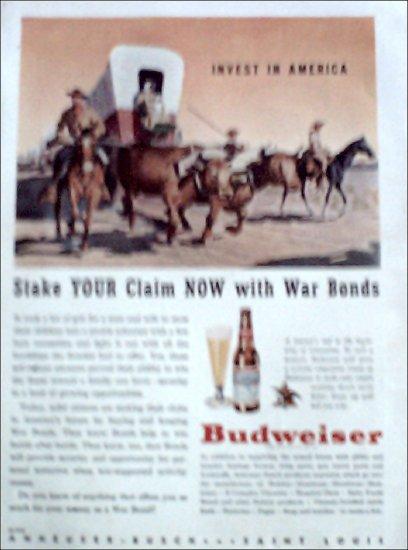 1944 Budweiser Beer ad