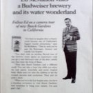 Budweiser Beer ad featuring Ed McMahon at Busch Gardens