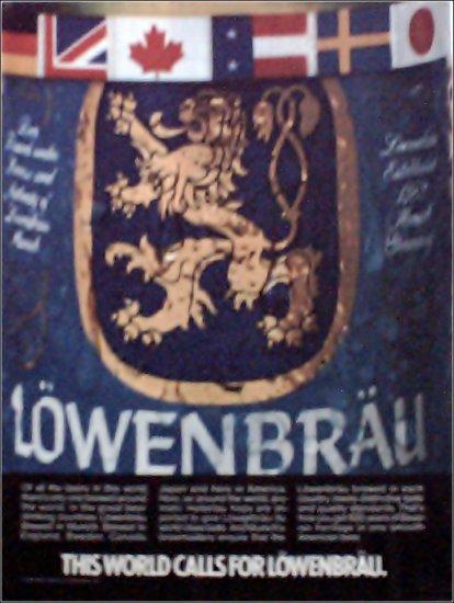 1985 Lowenbrau Beer ad
