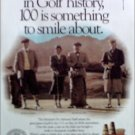 1988 Michelob Beer ad saluting 100th Anniversary of Golf