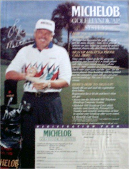 1991 Michelob Beer Golf Handicap ad