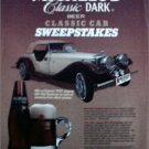 1986 Michelob Classic Dark Beer Classic Car Sweepstakes ad