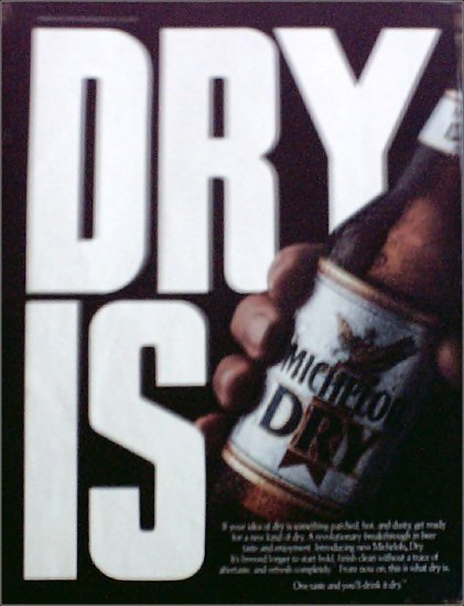 1989 Michelob Dry Beer ad