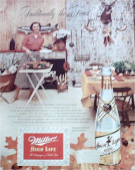 1952 Miller Beer ad #2