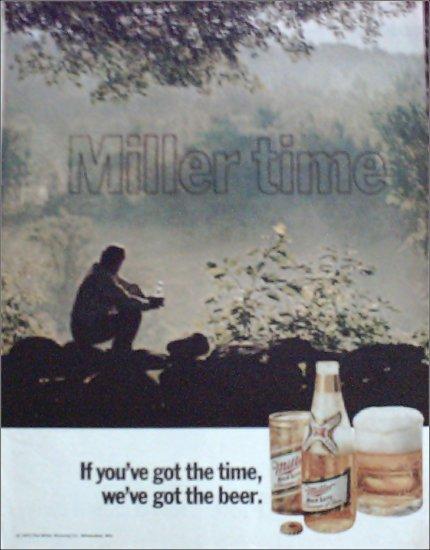 1971 Miller Beer ad