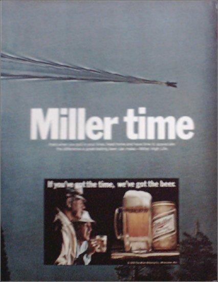 1972 Miller Beer Miller Time ad #1