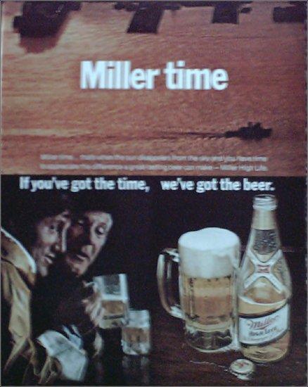 1972 Miller Beer Miller Time ad #2