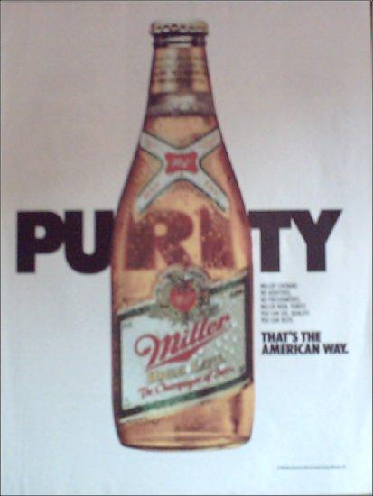 1985 Miller Beer Purity ad