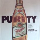 1985 Miller Beer Purity ad