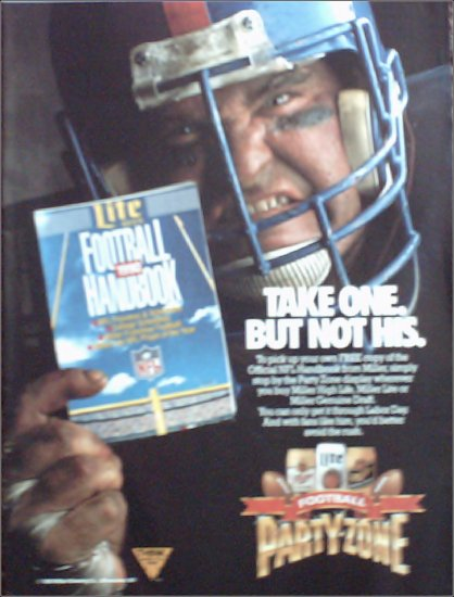 1990 Miller Beer NFL ad