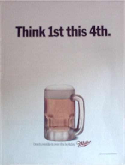 1991 Miller Beer 4th of July ad