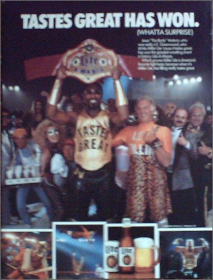1989 Miller Lite Beer ad featuring L C Greenwood