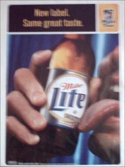 1998 Miller Lite Beer ad #1