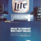 2000 Miller Lite Beer Online Auction ad featuring Rusty Wallace's Hood